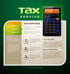 tax service brochure vector image vector image