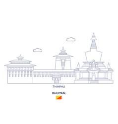 Thimphu city skyline vector
