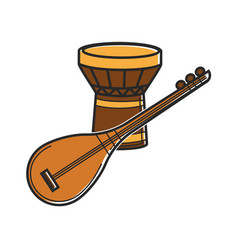 traditional music instruments vector image vector image