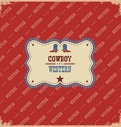 western label background western with text vector image vector image