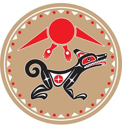 Wolf - coyote - native american style vector