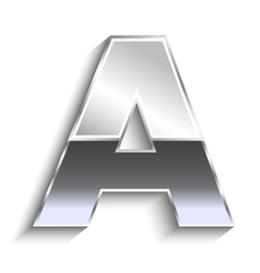 A Metal font vector image vector image