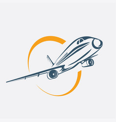 airplane symbol aircraft stylized icon vector image vector image