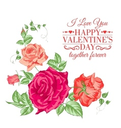 Bouquet of roses vector image vector image