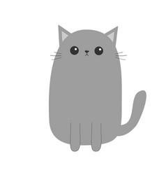 gray cat kitten cute cartoon kitty character vector image vector image