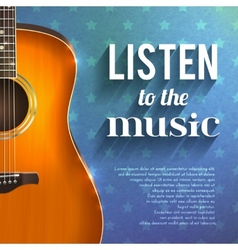 Music Background With Guitar vector image vector image