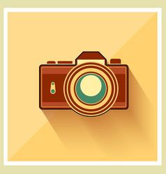 Dslr professional camera retro icon vector