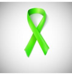 Green ribbon loop vector image vector image
