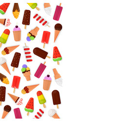 ice cream banner vector image vector image