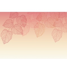 Nature background with leave vector image vector image