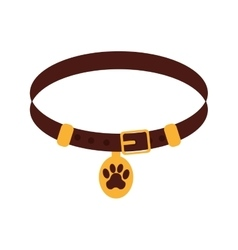 Pet collar isolated icon vector image