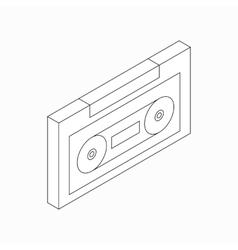Plastic audio cassette icon isometric 3d style vector image
