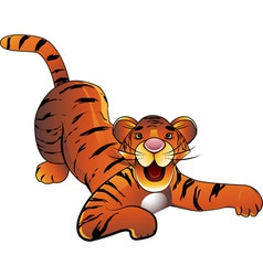 decorative baby tiger on a white background vector image