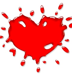 red heart splash vector image