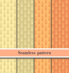 Seamless wheat pattern eps10 vector image