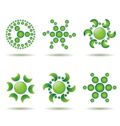 set of green logo design elements vector image vector image