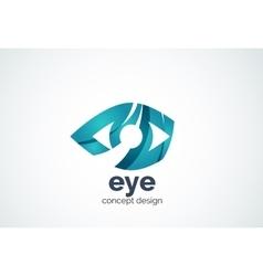 Abstract business company human eye logo template vector