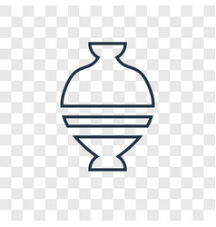 ancient jar concept linear icon isolated on vector image