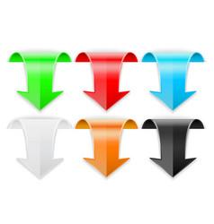 arrow colorful set vector image