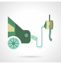 Automobile emission test flat icon vector image