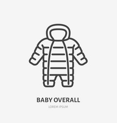 Baoveralls flat line icon cold weather vector