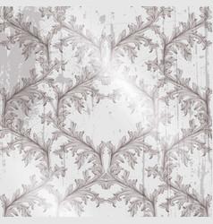 Baroque pattern grunge background vintage vector