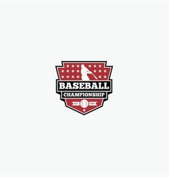 baseball logo design vector image