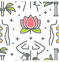 Beauty and spa seamless pattern lotus flower and vector