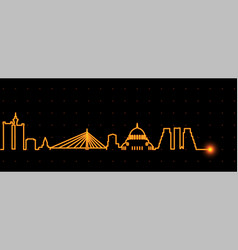 Belgrade light streak skyline vector