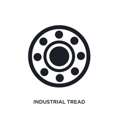 Black industrial tread isolated icon simple vector