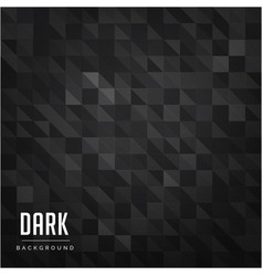 Black mini triangle pattern dark background vector