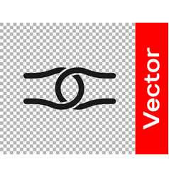 Black rope tied in a knot icon isolated vector