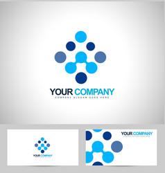 Blue dots Logo vector image