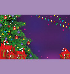 Christmas background with gift boxes xmas holiday vector