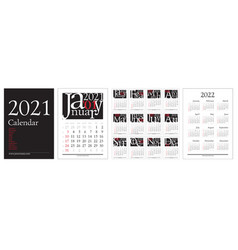 classic gregorian calendar for 2021 year a4 pages vector image
