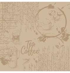 Coffee background with texture vector