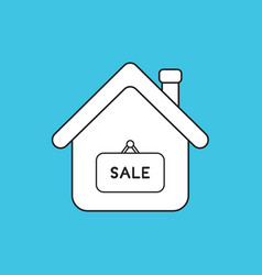 Concept house with sale word written on vector