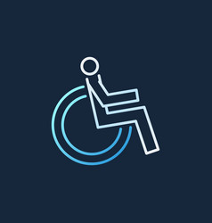 disabled colored modern linear icon vector image