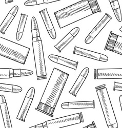 doodle bullets patterns seamless vector image