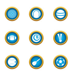 Dribble icons set flat style vector