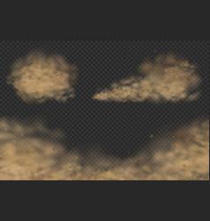 Dust clouds set vector