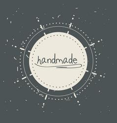 emblem decoration design with handmade message vector image