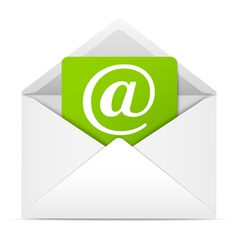 Envelope with paper sheet - concept of email vector