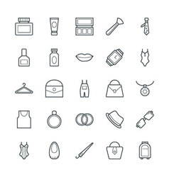 Fashion and Clothes Cool Icons 3 vector image