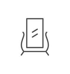 Floor mirror line icon vector