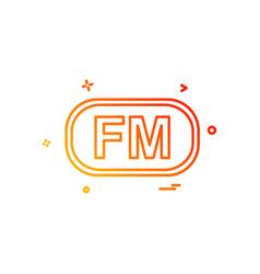 fm media icon design vector image