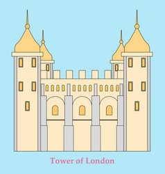 gpo tower london vector image