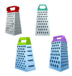 Grater icons set cartoon style vector