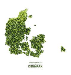 Green leaf map denmark vector