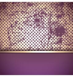 Grunge Vintage Golden Border vector image